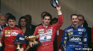 2- 1991- Grand Prix Monaco-Alesi-Senna-Mansell